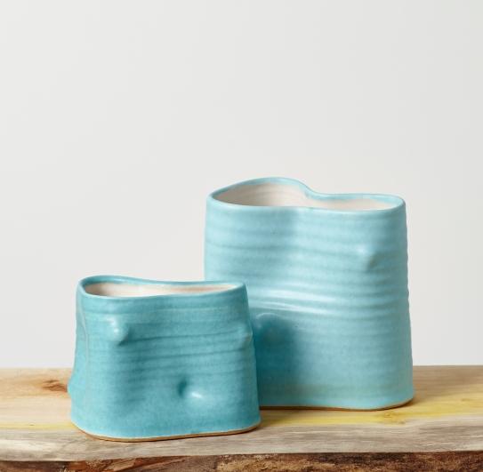 Turquoise vases 72